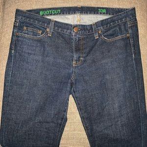 EUC J Crew Bootcut Jeans Size 33.